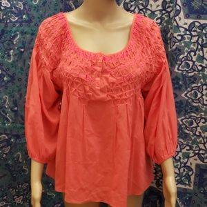 Free People puffed sleeve boho tunic medium